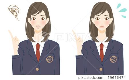 有麻煩的女小學生,與朋友戰鬥,消極衝擊 59636474