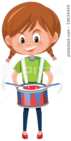 A girl playing drum 59638404