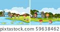 A river activity scene 59638462
