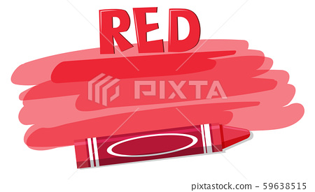 A red crayon on white background 59638515