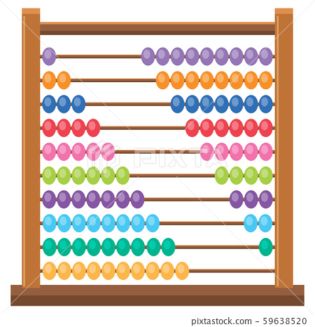 Colourful wooden abacus on white backgroud 59638520
