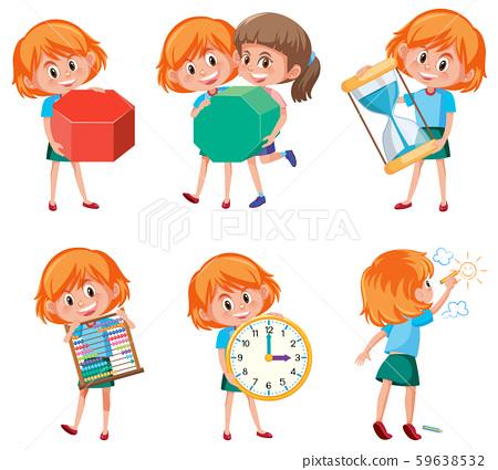Children holding math objects 59638532