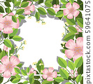 Flower and leaves border 59641075