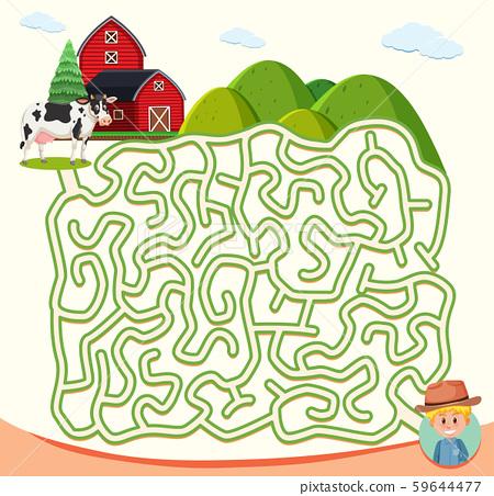 farm maze puzzle concept 59644477