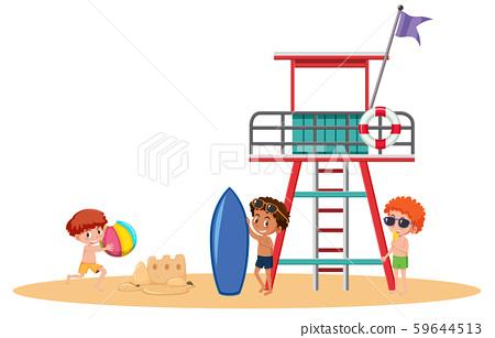Boys at the beach 59644513