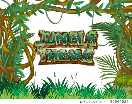Jungle Theme nature scene 59644625