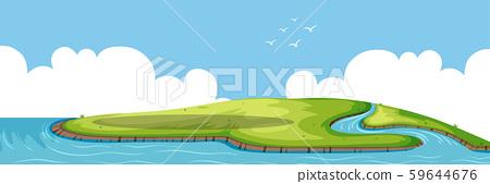 A beautiful nature island 59644676
