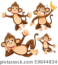 Set of monkey character 59644834