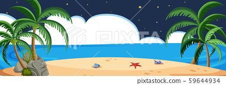 Beach scene at night 59644934