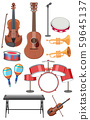 Set of music instruments 59645137