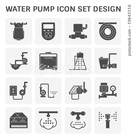water pump icon 59645558