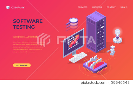 Landing page for software testing 59646542