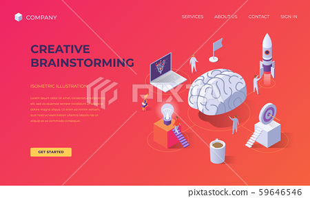 Landing page for creative brainstorming 59646546