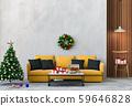 Christmas interior living room. 3d render 59646828
