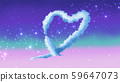 Fantastic background with heart symbol 59647073