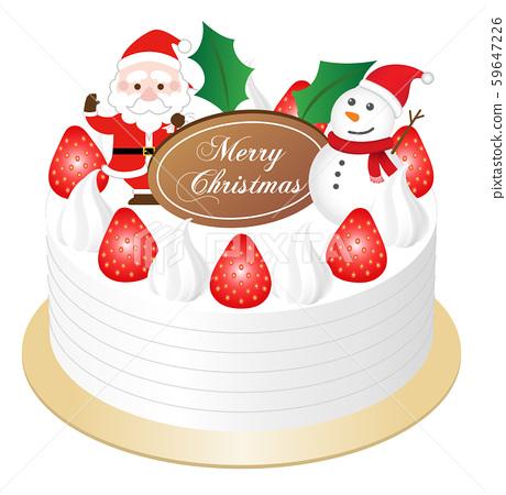 聖誕蛋糕白色背景 59647226