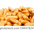 Orange pills capsule tablets 59647824