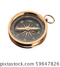 Black gold compass isolated 59647826