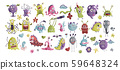 Huge vector clip art monster collection. 59648324