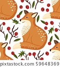 fox animal cute vector illustration. 59648369