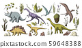 Huge vector clip art dino collection. 59648388