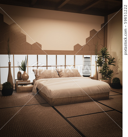 Bedroom japan style and wall design hexagon tiles 59651222