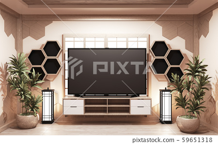 Cabinet wooden japanese style and Tv on cabinet 59651318