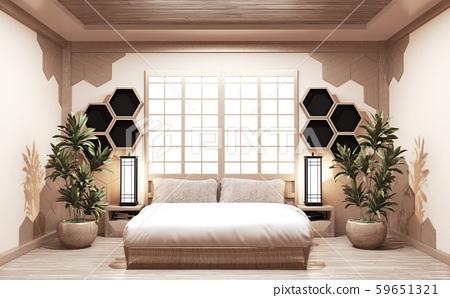 Hexagon Shelf wooden style on wall Bedroom 59651321