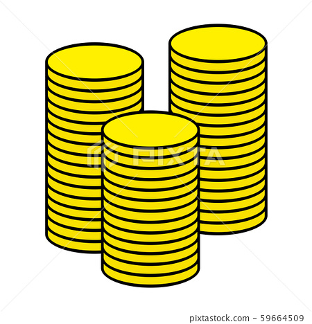 Stacked coins 59664509