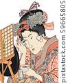 "Ukiyo-e"" Kochoro Kunisada"" นักเต้นที่สวยงาม 59665805"