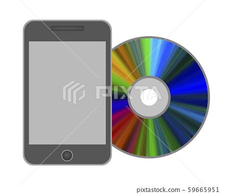 智能手機和光盤 59665951