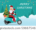 Christmas greeting card with christmas santa claus 59667546