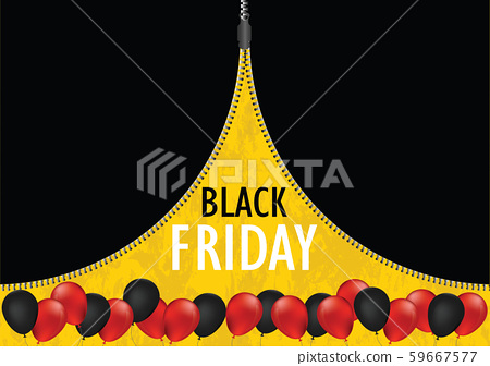 Black friday sale promotion web banner with open 59667577