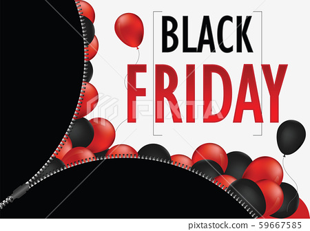 Black friday sale promotion web banner with open 59667585