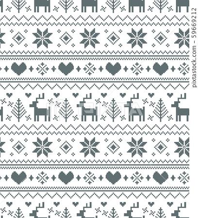 노르딕 무늬 원활한 패턴 59669212
