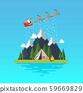Santa sleigh with landscape 59669829