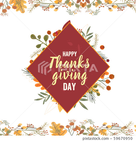 Thanksgiving day. Logo, text design. Typography for greeting cards and posters 59670950