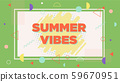 Summer vibes on beach sunset shape illustration 59670951