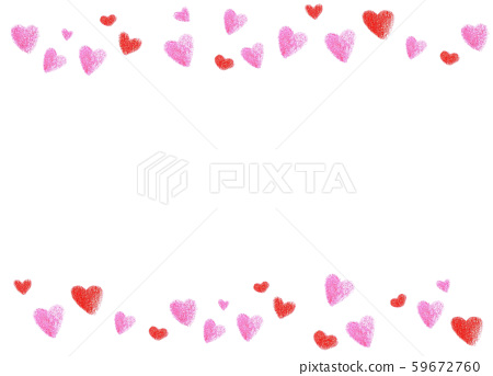 Valentine heart frame colored pencil drawing 59672760