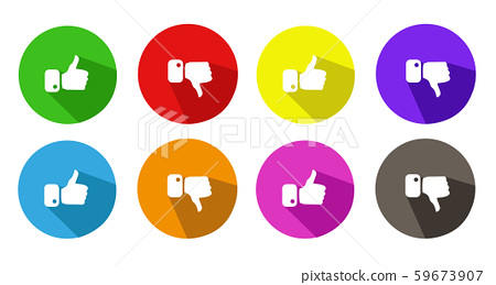 Modern Thumbs Up and Thumbs Down Icons 59673907