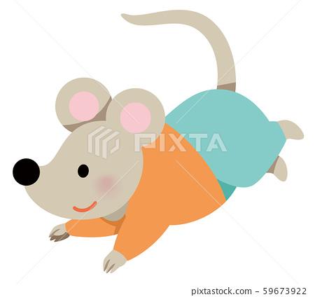 2020年新年賀卡材料_彈跳鼠 59673922
