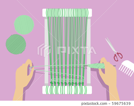 Hands Weaving Illustration 59675639