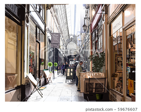 Covered arcade in Paris 59676607
