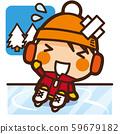 學校的孩子們溜冰婦女冬季運動 59679182