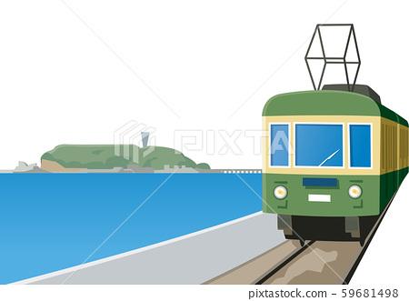 江之电|火车|本地电话|江之岛|湘南|镰仓| 59681498