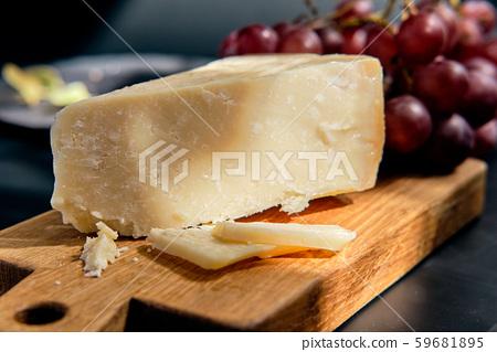 Pieces of parmigiano reggiano or parmesan cheese 59681895
