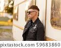 Fashionable model man with sunglasses  59683860