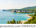 View at Bay with tourist resort in gulf of Trieste 59685020