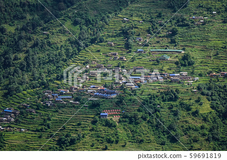 Mountain village in Pokhara, Nepal 59691819