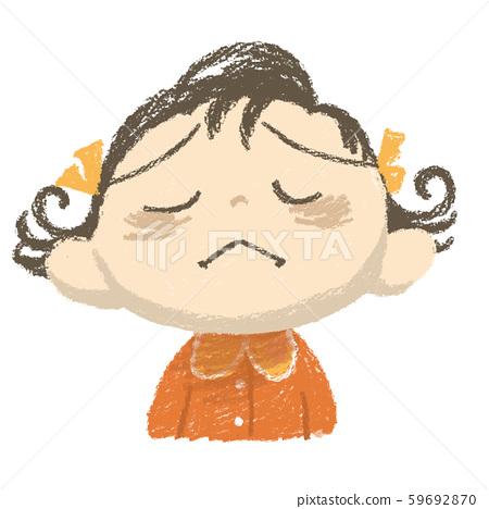Girl's facial expression 59692870